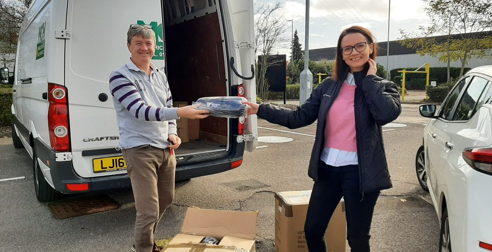 Winnersh Triangle donates over 150 blankets to local charity